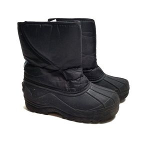 Toms Black Velcro Winter Snow Boots Youth